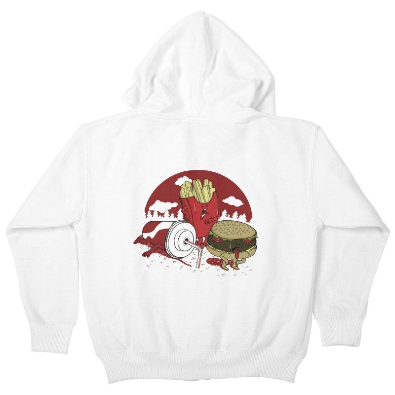Not so fast food Kids Zip-Up Hoody by maortoubian's Artist Shop