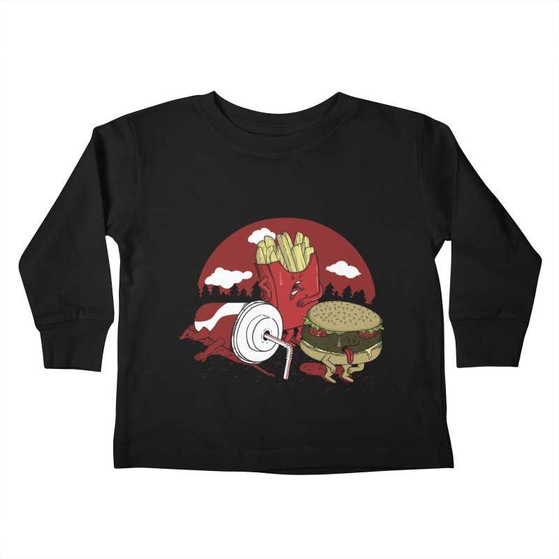 Not so fast food Kids Toddler Longsleeve T-Shirt by maortoubian's Artist Shop