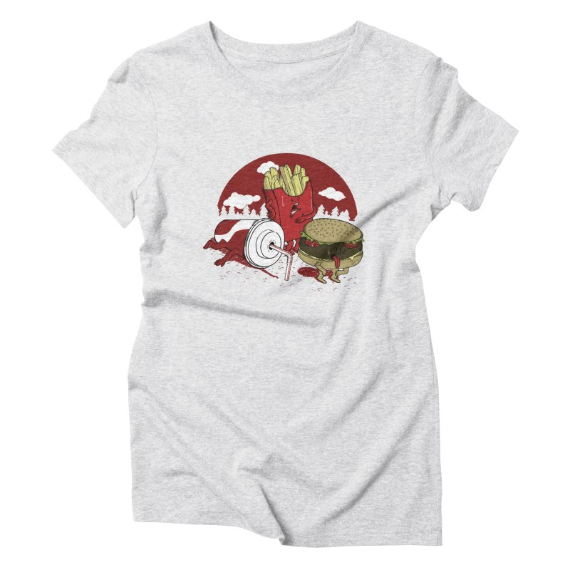 Not so fast food Women's Triblend T-shirt by maortoubian's Artist Shop