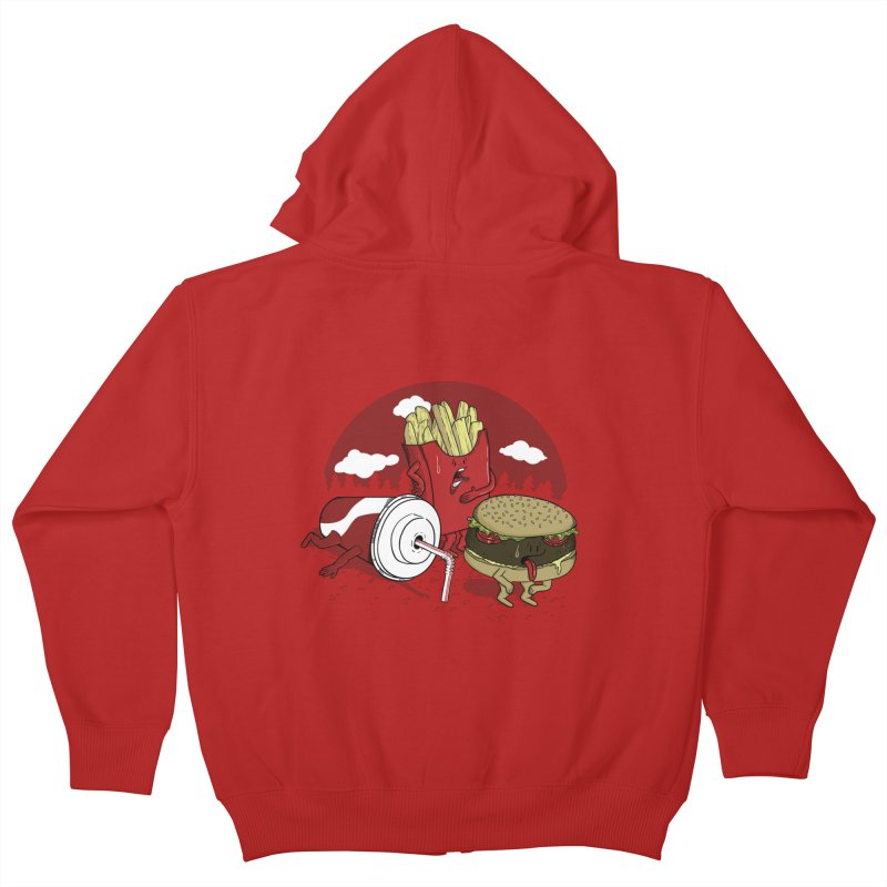 Not so fast food Kids Zip-Up Hoody by maortoubian's Artist Shop