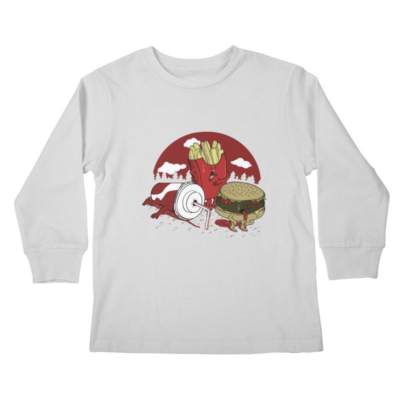 Not so fast food Kids Longsleeve T-Shirt by maortoubian's Artist Shop