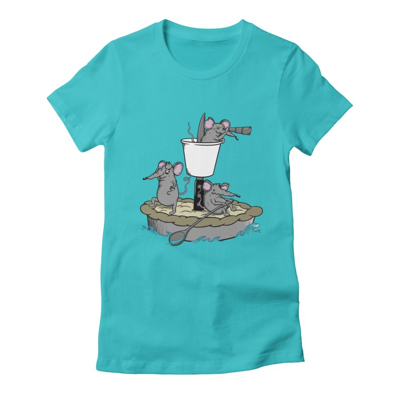 PieRats Women's Fitted T-Shirt by maortoubian's Artist Shop