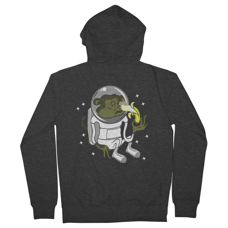 Cant eat banana in space :( Men's Zip-Up Hoody by maortoubian's Artist Shop
