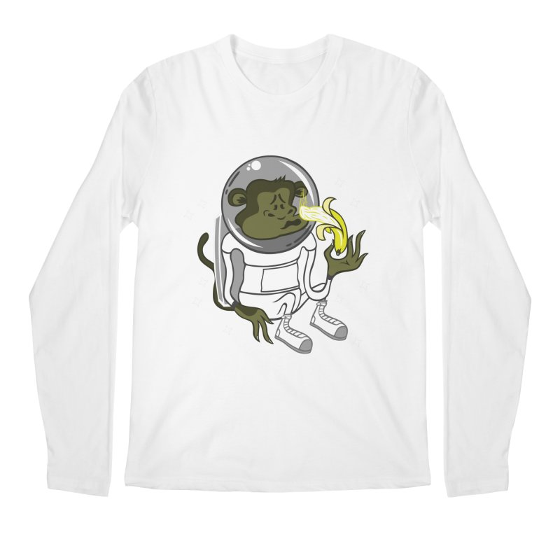 Cant eat banana in space :( Men's Longsleeve T-Shirt by maortoubian's Artist Shop