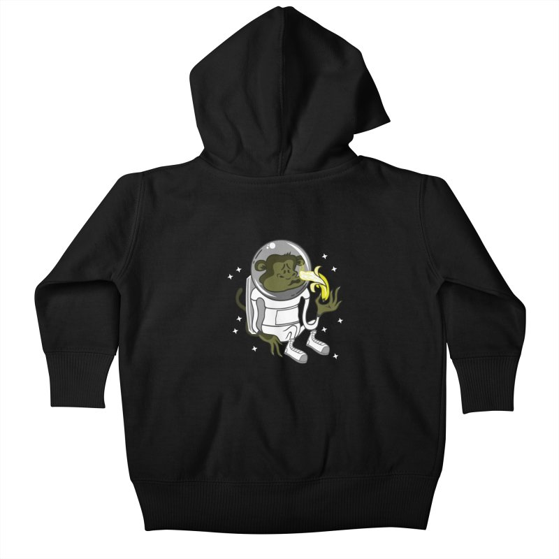 Cant eat banana in space :( Kids Baby Zip-Up Hoody by maortoubian's Artist Shop