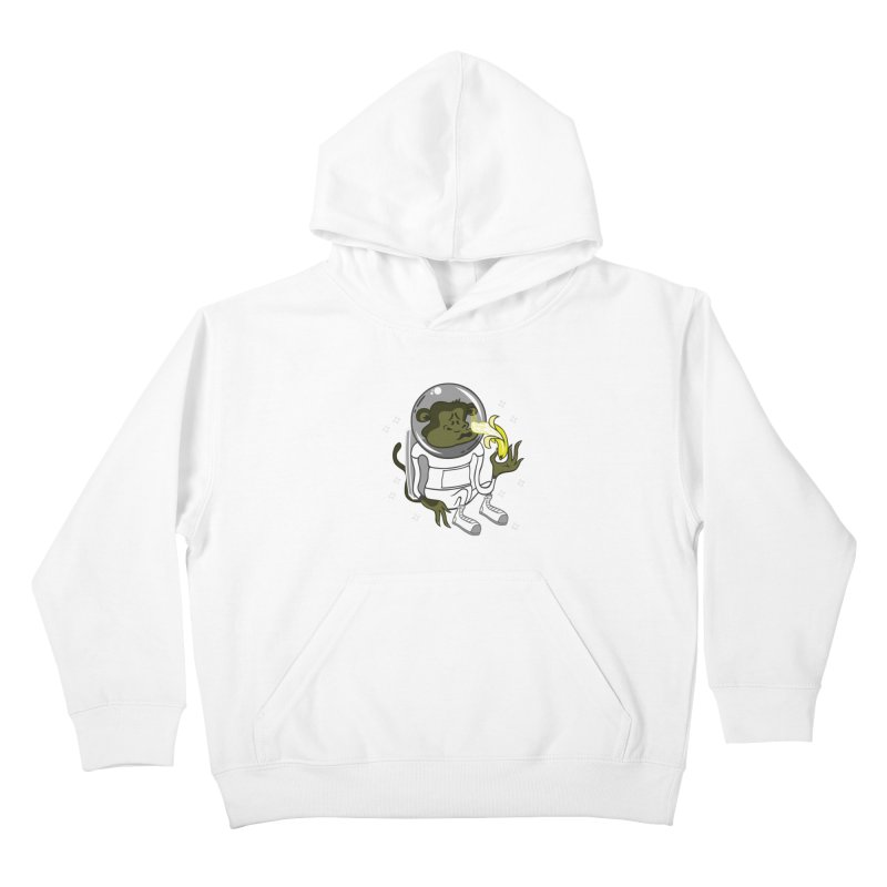 Cant eat banana in space :( Kids Pullover Hoody by maortoubian's Artist Shop