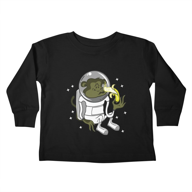 Cant eat banana in space :( Kids Toddler Longsleeve T-Shirt by maortoubian's Artist Shop