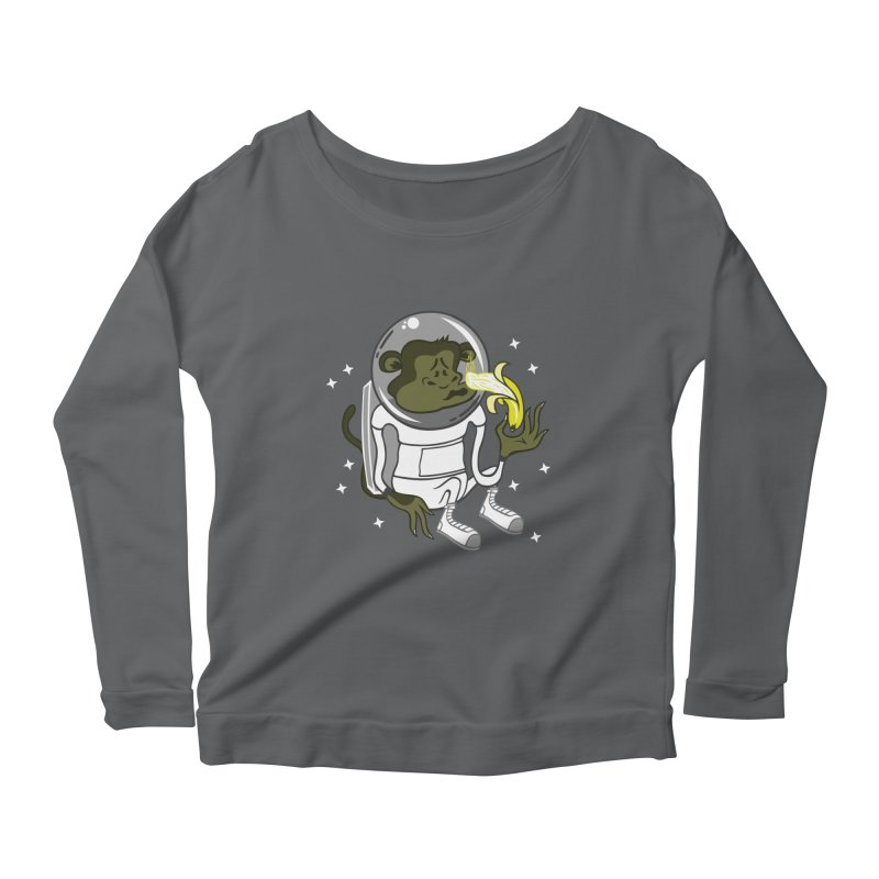 Cant eat banana in space :( Women's Longsleeve Scoopneck  by maortoubian's Artist Shop