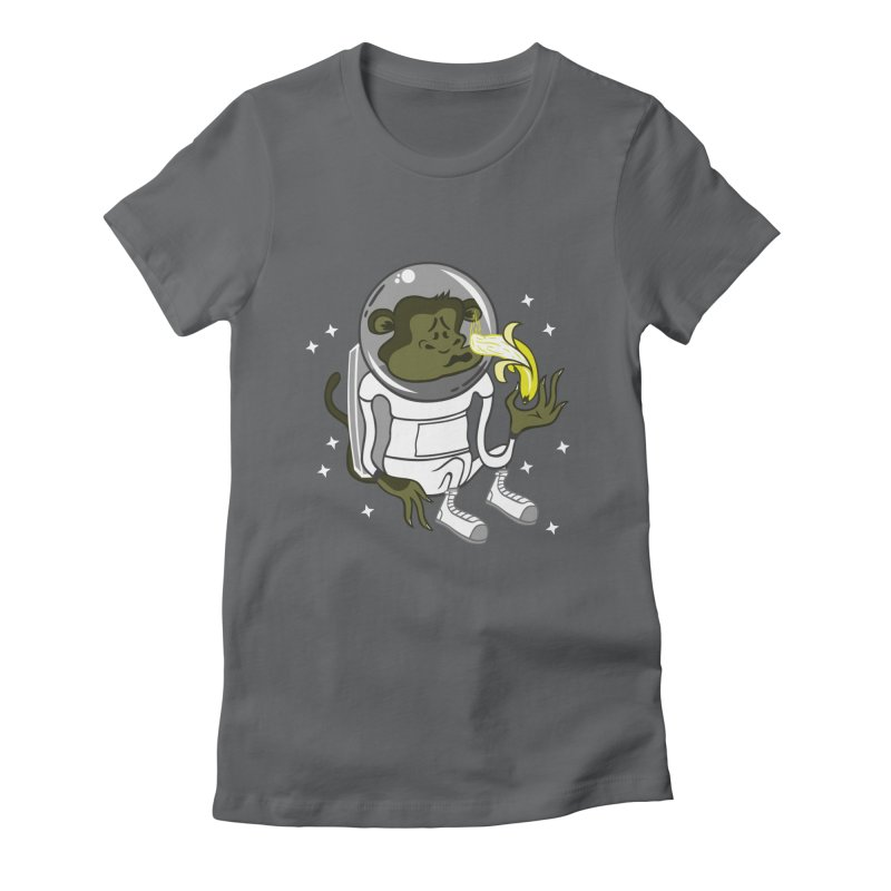 Cant eat banana in space :( Women's Fitted T-Shirt by maortoubian's Artist Shop