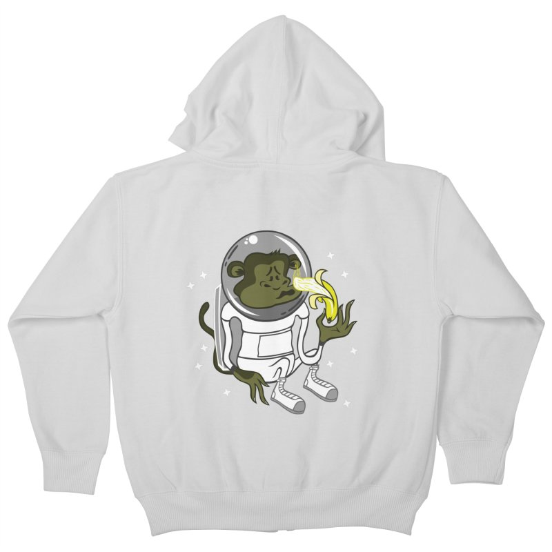Cant eat banana in space :( Kids Zip-Up Hoody by maortoubian's Artist Shop