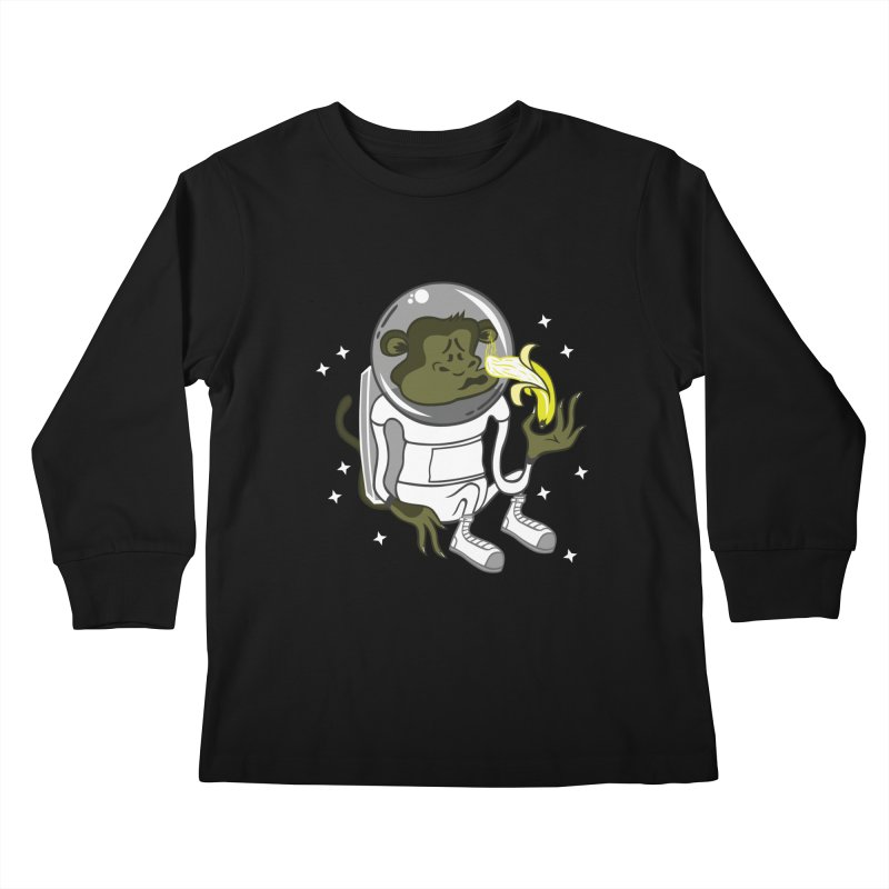 Cant eat banana in space :( Kids Longsleeve T-Shirt by maortoubian's Artist Shop