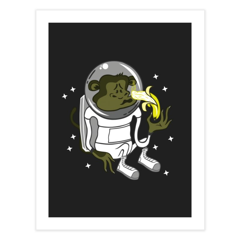 Cant eat banana in space :( Home Fine Art Print by maortoubian's Artist Shop