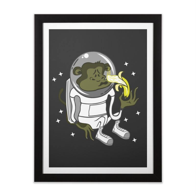 Cant eat banana in space :( Home Framed Fine Art Print by maortoubian's Artist Shop