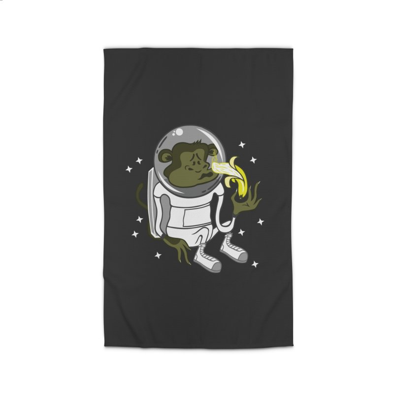 Cant eat banana in space :( Home Rug by maortoubian's Artist Shop