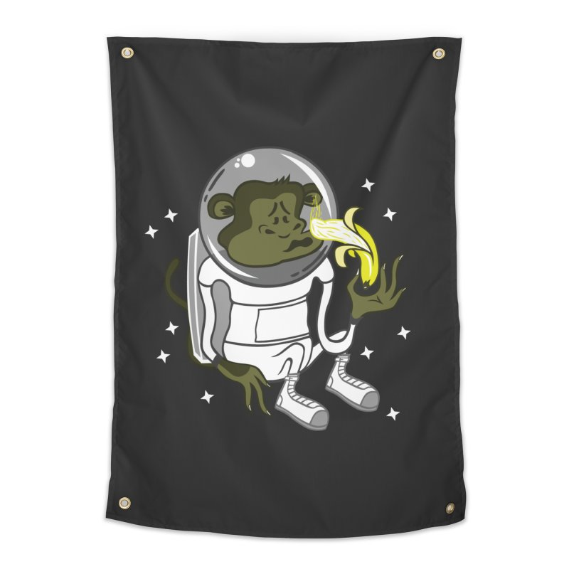 Cant eat banana in space :( Home Tapestry by maortoubian's Artist Shop