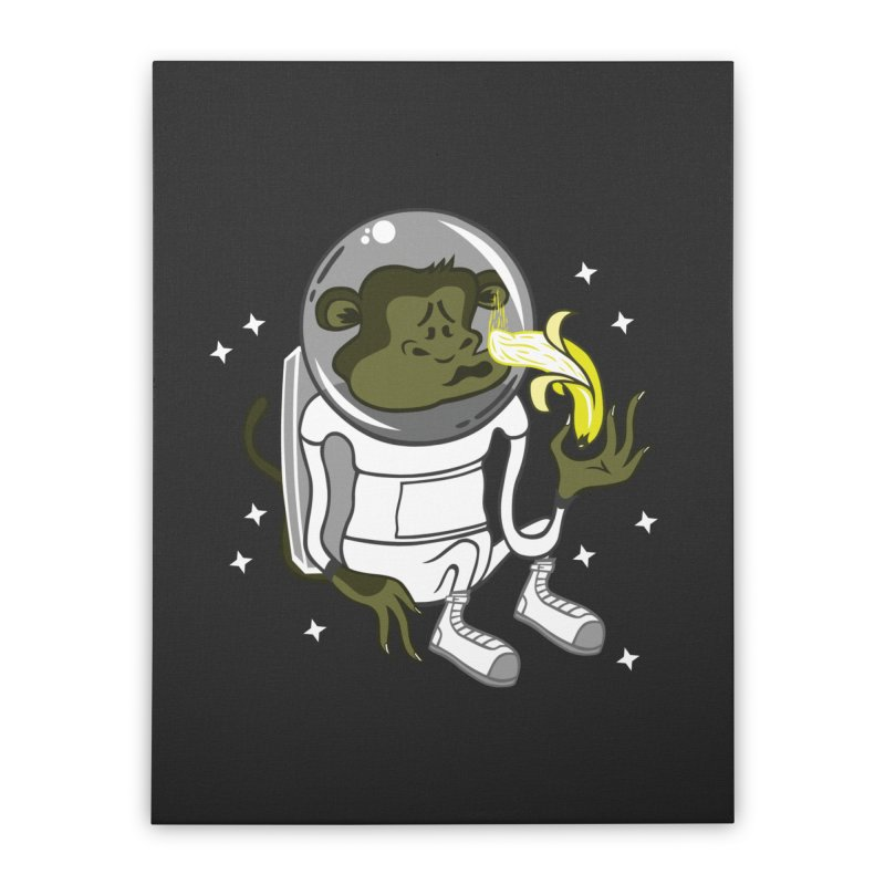 Cant eat banana in space :( Home Stretched Canvas by maortoubian's Artist Shop