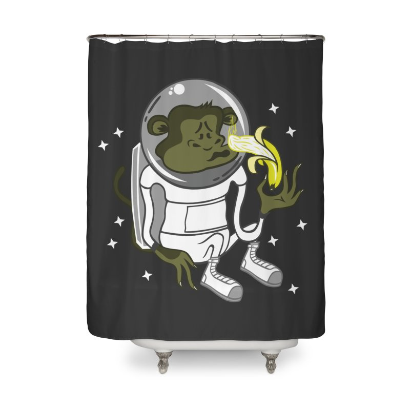 Cant eat banana in space :( Home Shower Curtain by maortoubian's Artist Shop