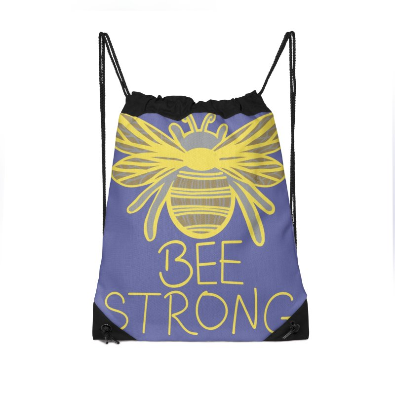 Bee Strong Accessories Bag by Maple Bee Creative
