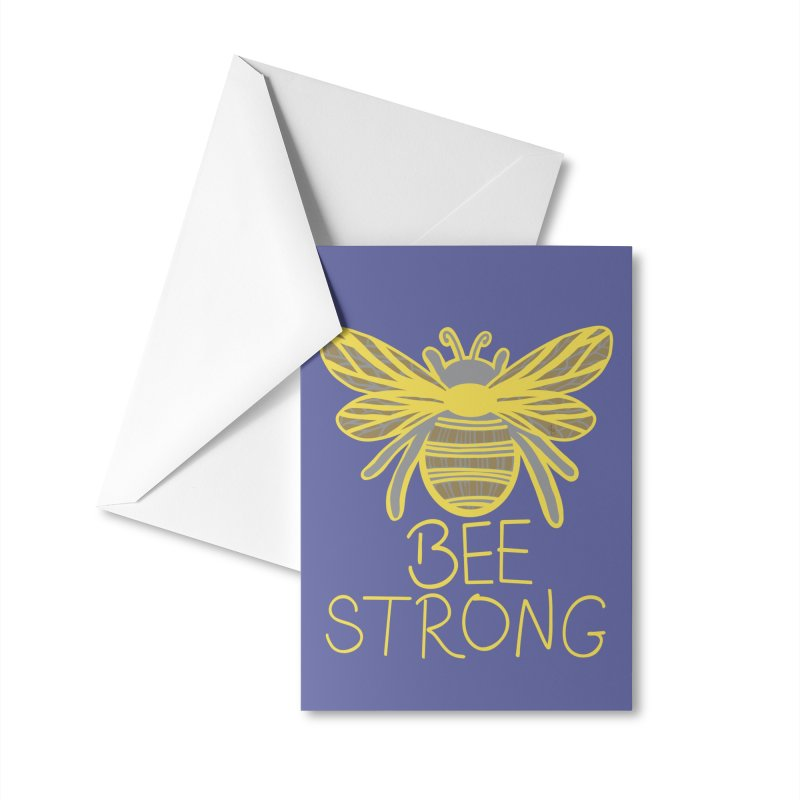 Bee Strong Accessories Greeting Card by Maple Bee Creative