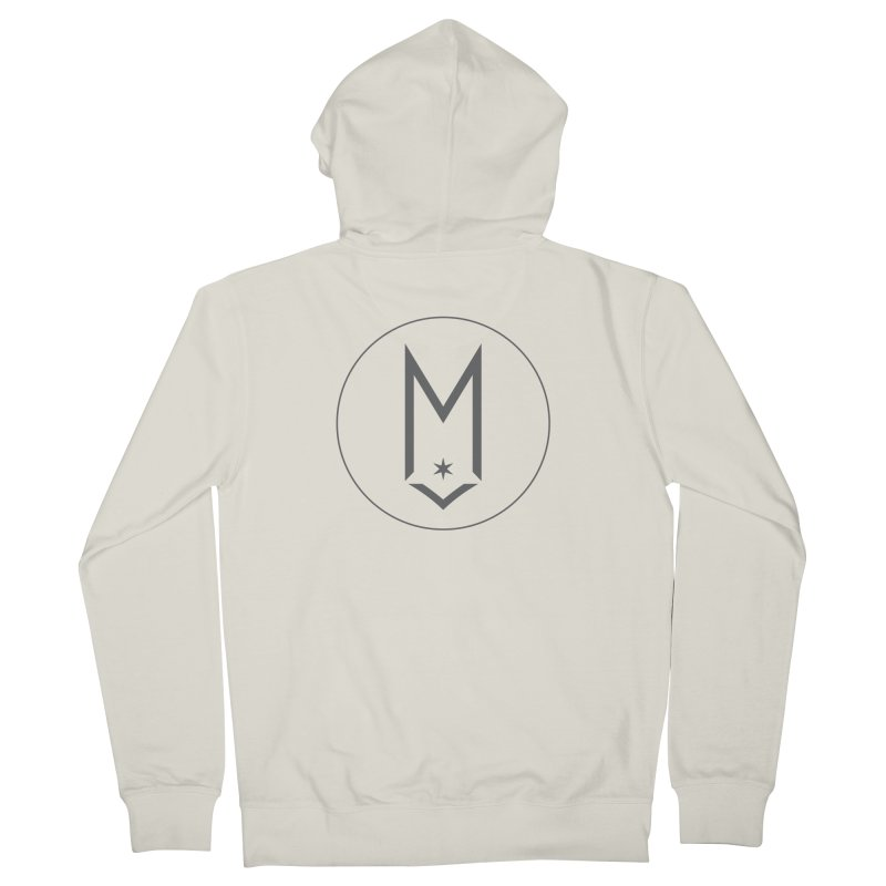 M Circle Gray Logo Women's French Terry Zip-Up Hoody by Shop Maplewood Brewery & Distillery