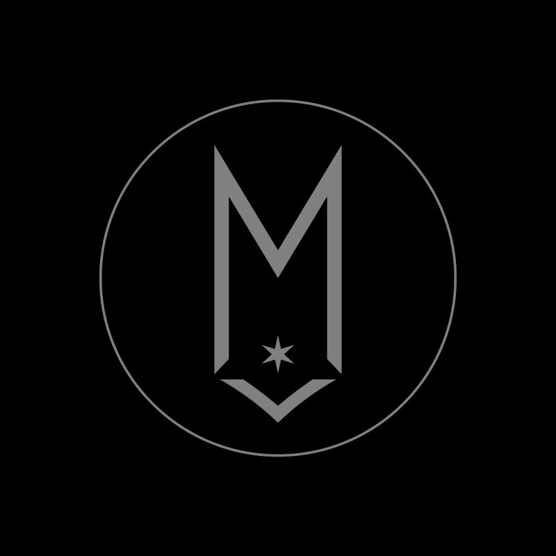 M Circle Light Gray Logo by Shop Maplewood Brewery & Distillery
