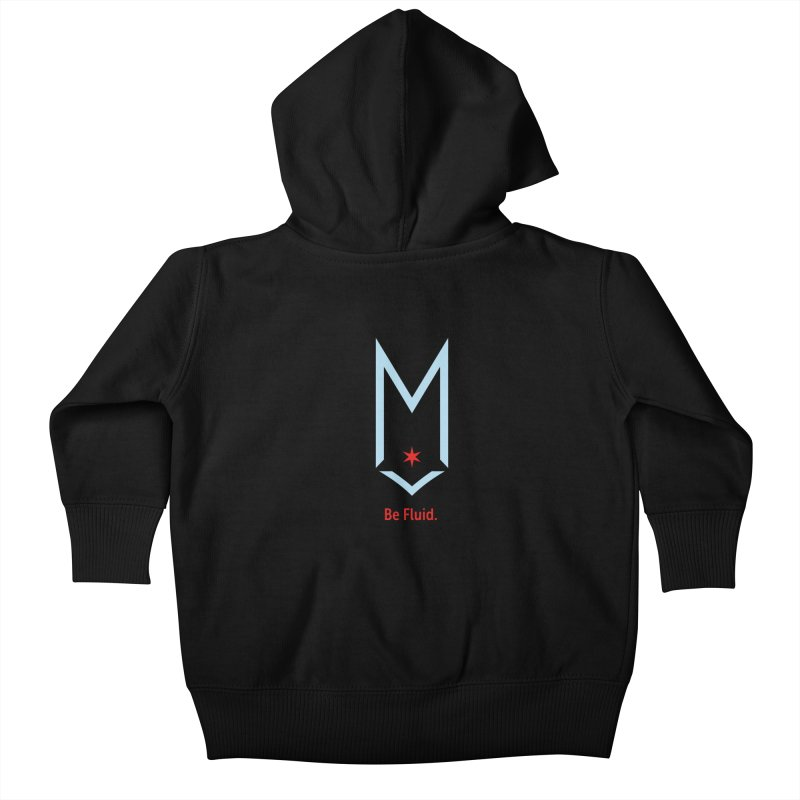 Be Fluid - Chicago Logo Kids Baby Zip-Up Hoody by Shop Maplewood Brewery & Distillery