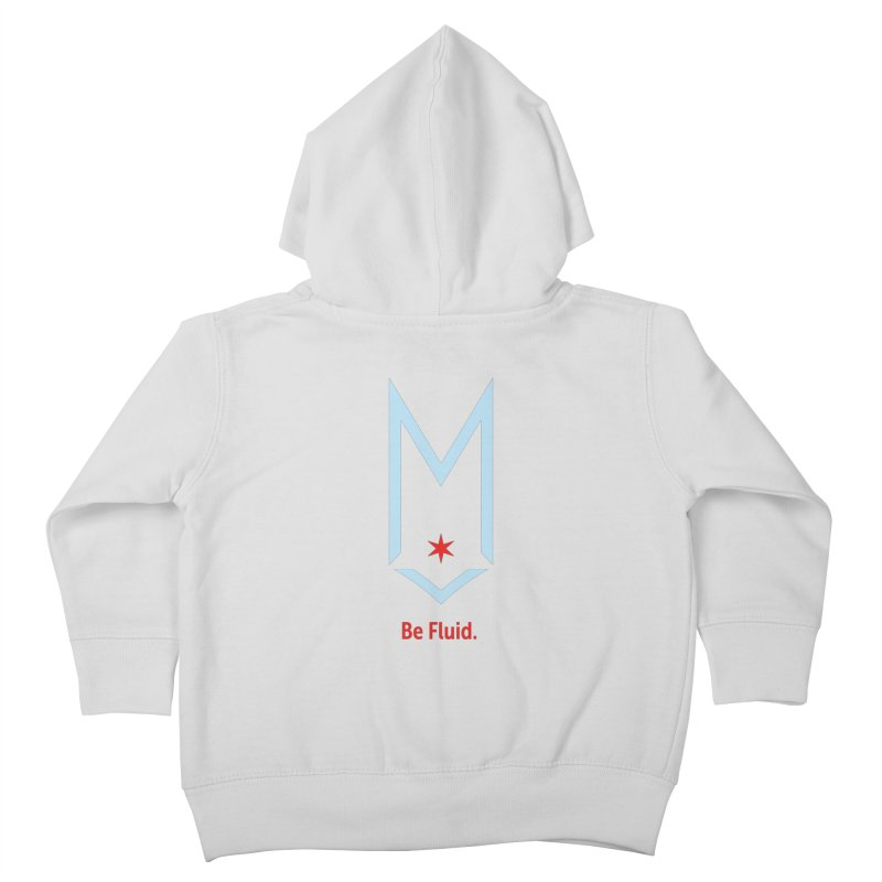 Be Fluid - Chicago Logo Kids Toddler Zip-Up Hoody by Shop Maplewood Brewery & Distillery