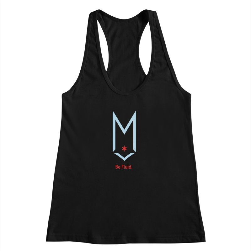Be Fluid - Chicago Logo Women's Racerback Tank by Shop Maplewood Brewery & Distillery