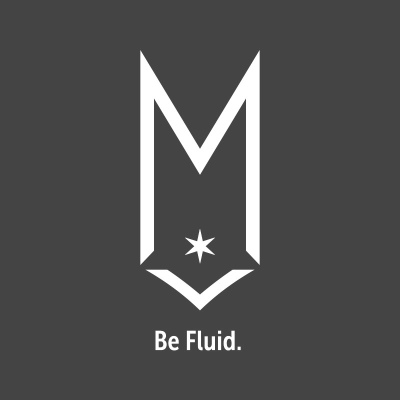 Be Fluid - White Logo Men's T-Shirt by Shop Maplewood Brewery & Distillery