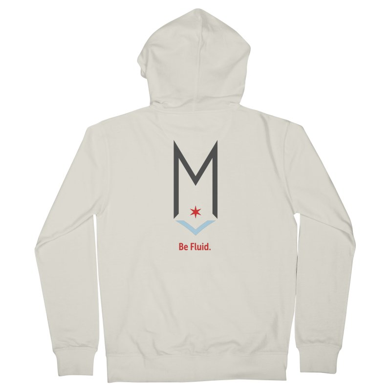 Be Fluid - Classic Logo Women's French Terry Zip-Up Hoody by Shop Maplewood Brewery & Distillery