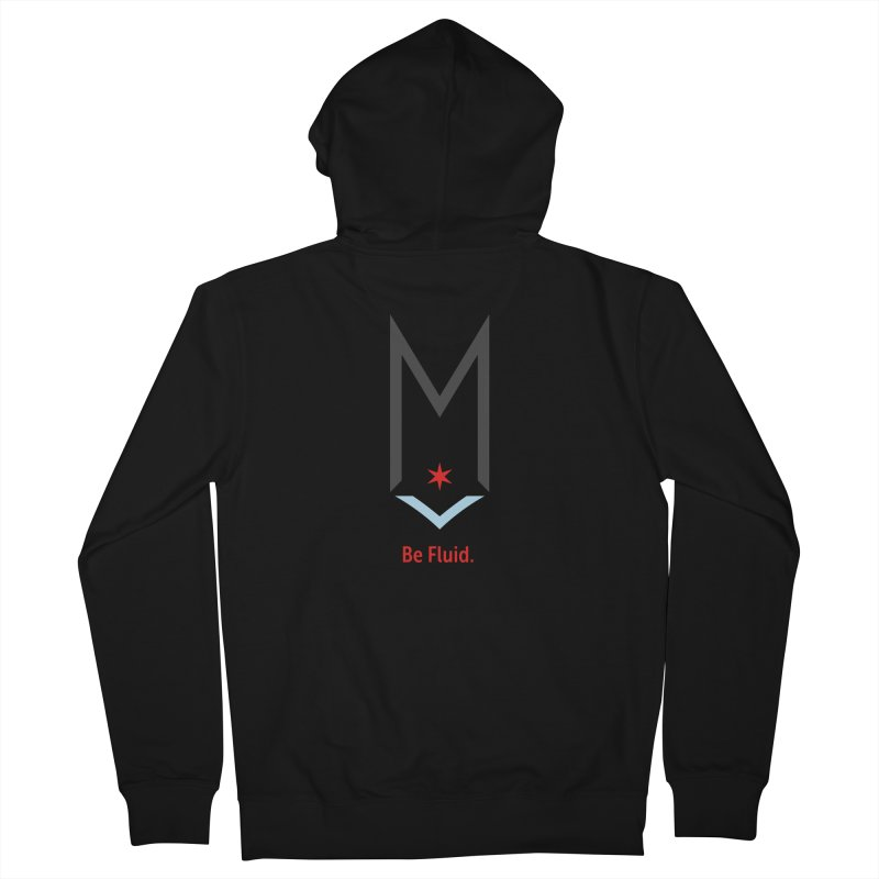 Be Fluid - Classic Logo Men's French Terry Zip-Up Hoody by Shop Maplewood Brewery & Distillery