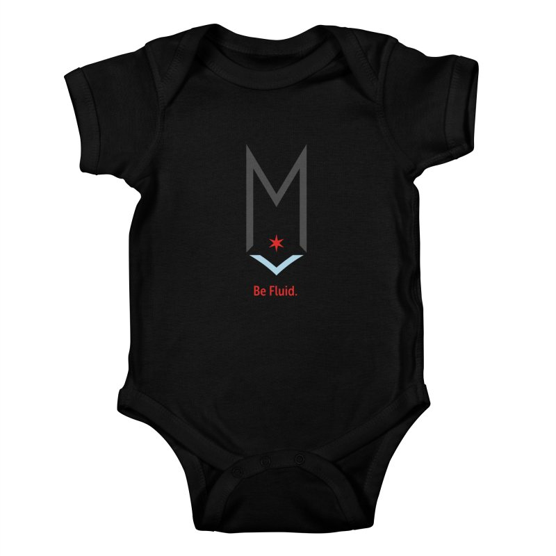 Be Fluid - Classic Logo Kids Baby Bodysuit by Shop Maplewood Brewery & Distillery