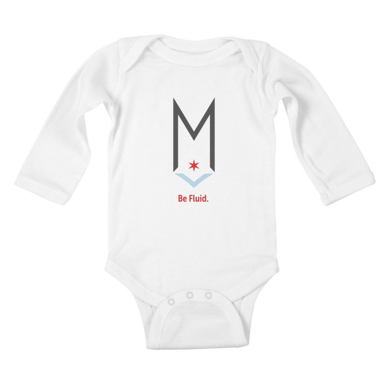 Be Fluid - Classic Logo Kids Baby Longsleeve Bodysuit by Shop Maplewood Brewery & Distillery