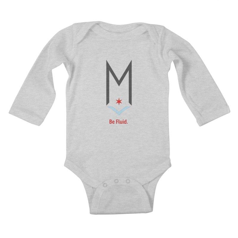 Be Fluid - Classic Logo Kids Baby Longsleeve Bodysuit by Shop Maplewood Brewery & Distillery