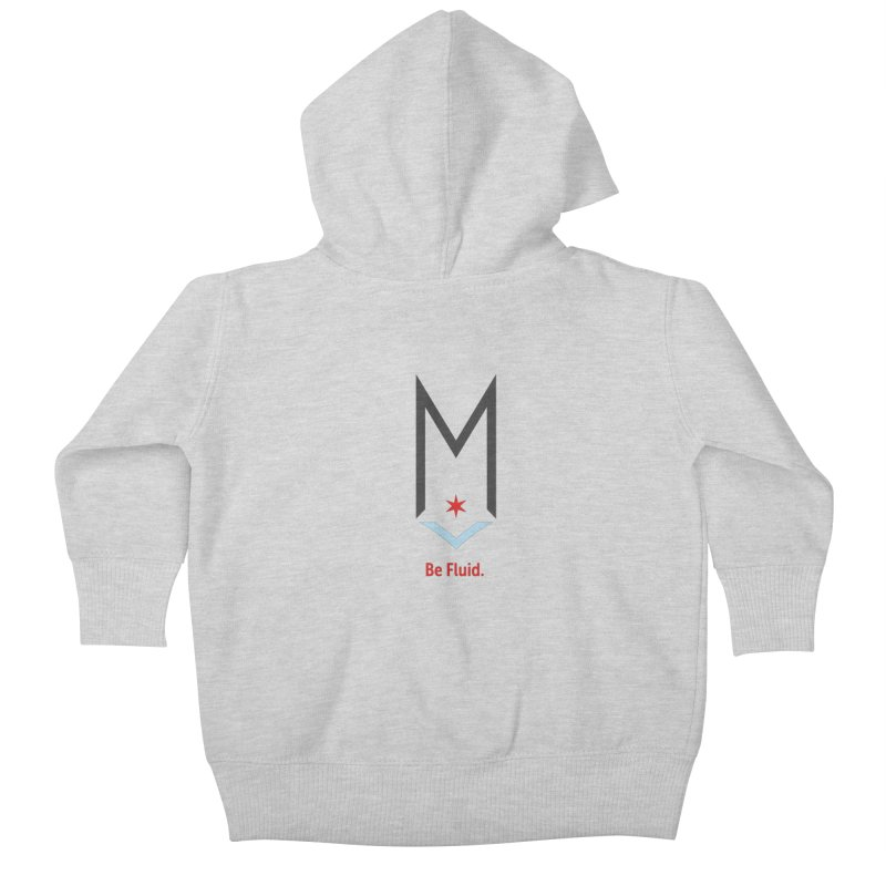 Be Fluid - Classic Logo Kids Baby Zip-Up Hoody by Shop Maplewood Brewery & Distillery