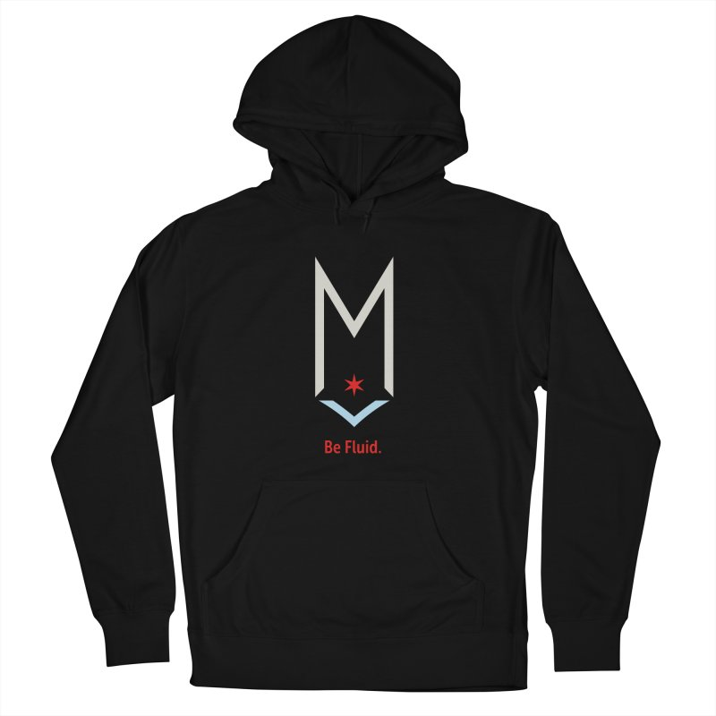 Be Fluid - Off White Logo Women's French Terry Pullover Hoody by Shop Maplewood Brewery & Distillery