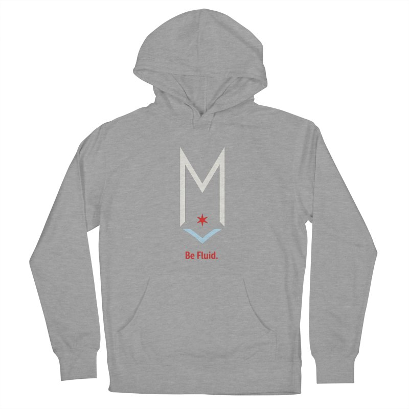 Be Fluid - Off White Logo Men's French Terry Pullover Hoody by Shop Maplewood Brewery & Distillery