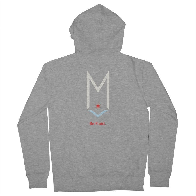 Be Fluid - Off White Logo Women's French Terry Zip-Up Hoody by Shop Maplewood Brewery & Distillery