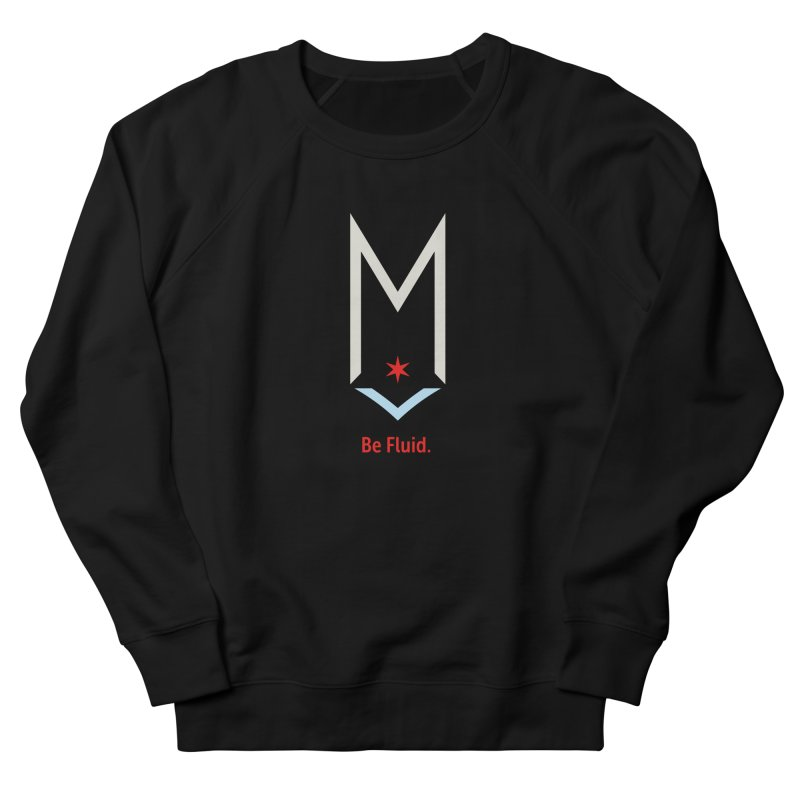 Be Fluid - Off White Logo Women's French Terry Sweatshirt by Shop Maplewood Brewery & Distillery