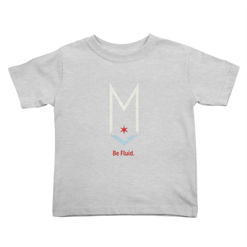 Be Fluid - Off White Logo Kids Toddler T-Shirt by Shop Maplewood Brewery & Distillery