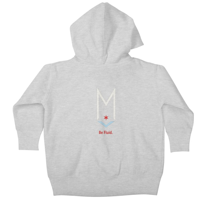 Be Fluid - Off White Logo Kids Baby Zip-Up Hoody by Shop Maplewood Brewery & Distillery