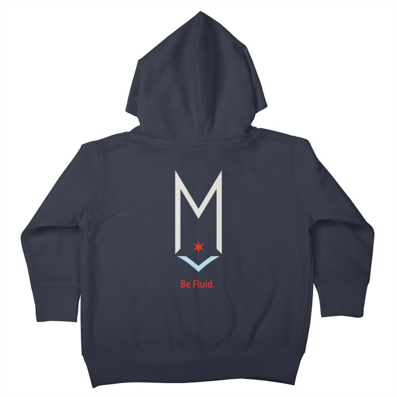 Be Fluid - Off White Logo Kids Toddler Zip-Up Hoody by Shop Maplewood Brewery & Distillery