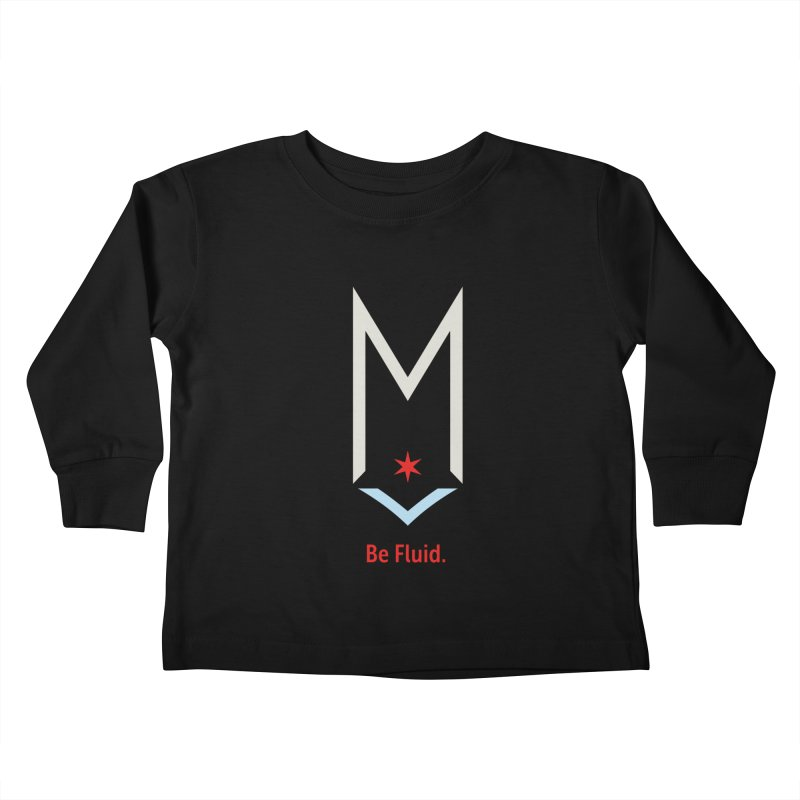 Be Fluid - Off White Logo Kids Toddler Longsleeve T-Shirt by Shop Maplewood Brewery & Distillery