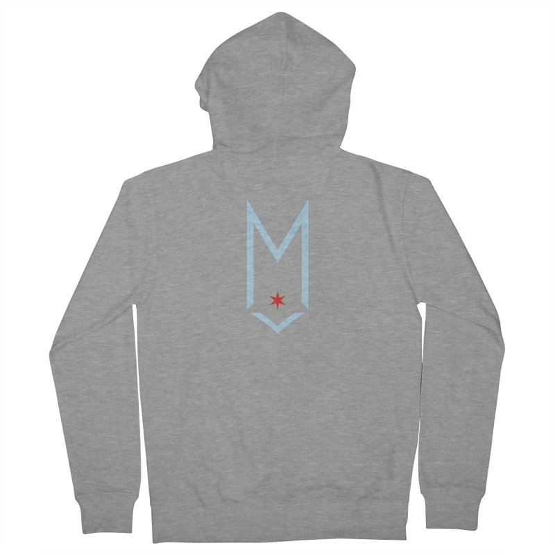 M - Chicago Logo Women's French Terry Zip-Up Hoody by Shop Maplewood Brewery & Distillery