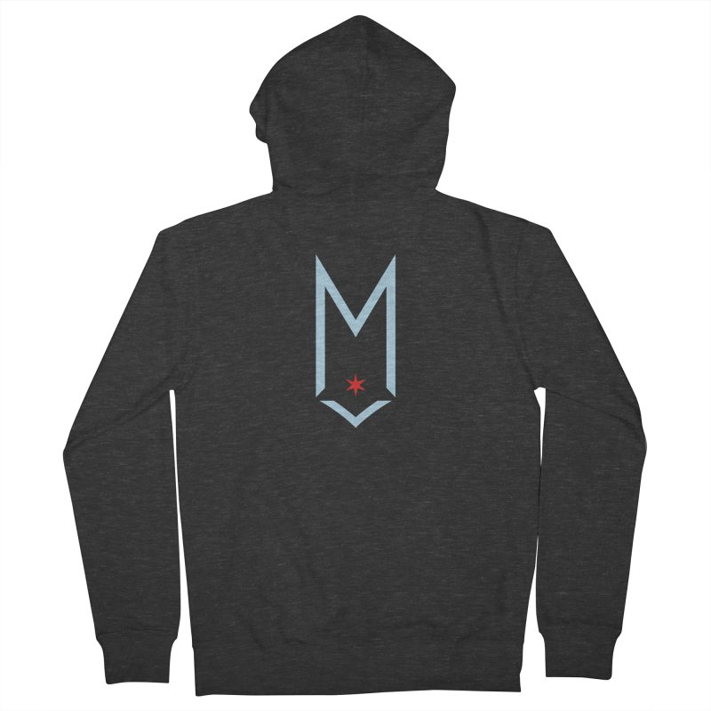 M - Chicago Logo Men's French Terry Zip-Up Hoody by Shop Maplewood Brewery & Distillery