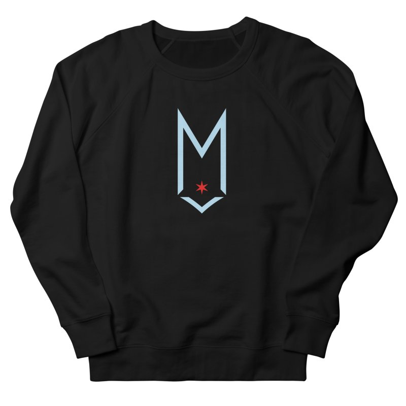 M - Chicago Logo Men's French Terry Sweatshirt by Shop Maplewood Brewery & Distillery