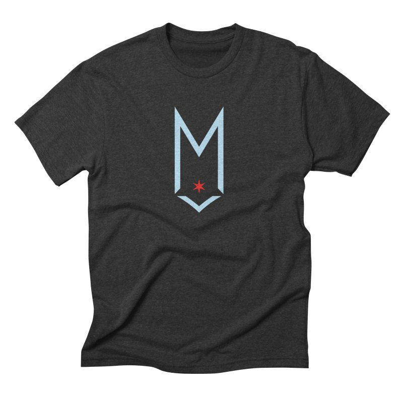 M - Chicago Logo in Men's Triblend T-Shirt Heather Onyx by Shop Maplewood Brewery & Distillery
