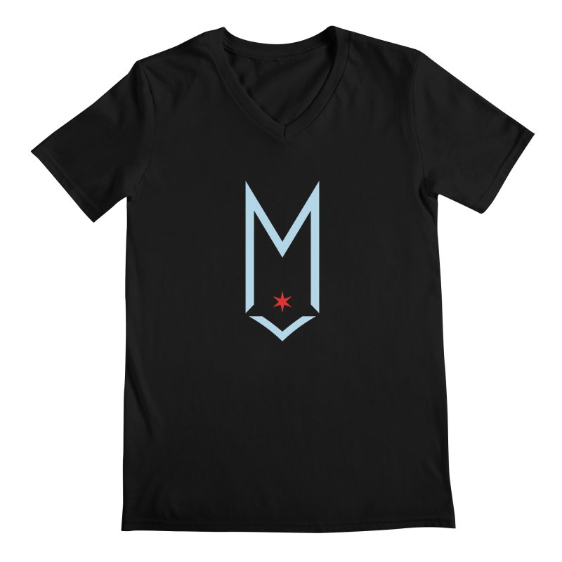 M - Chicago Logo Men's Regular V-Neck by Shop Maplewood Brewery & Distillery