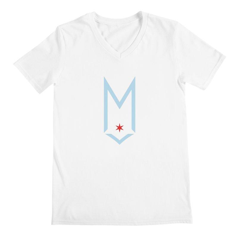 M - Chicago Logo Men's Regular V-Neck by Shop Maplewood Brewery & Distillery