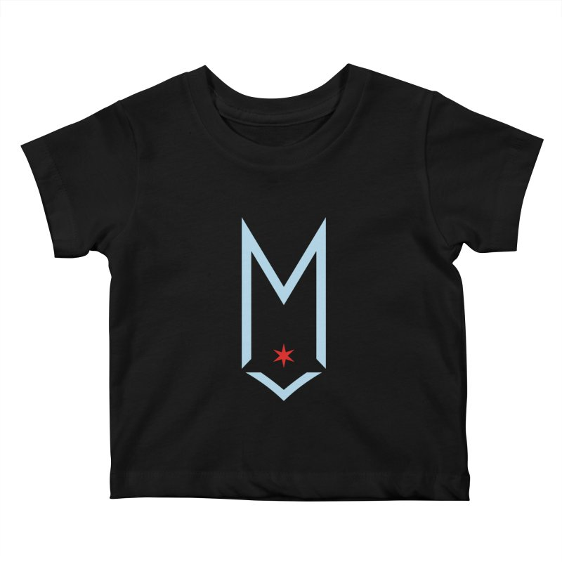 M - Chicago Logo Kids Baby T-Shirt by Shop Maplewood Brewery & Distillery